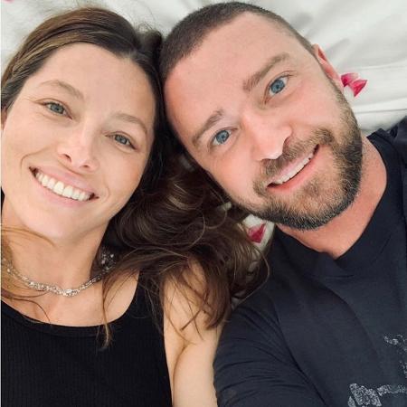 Justin Timberlake e a mulher, Jessica Biel - Reprodução/Instagram