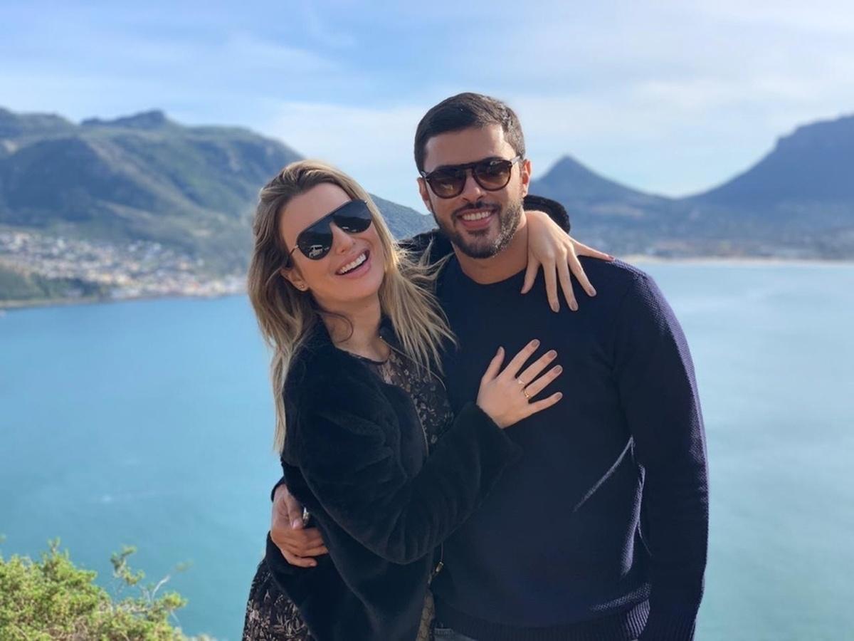 Fernanda Keulla com o namorado Matheus Costa