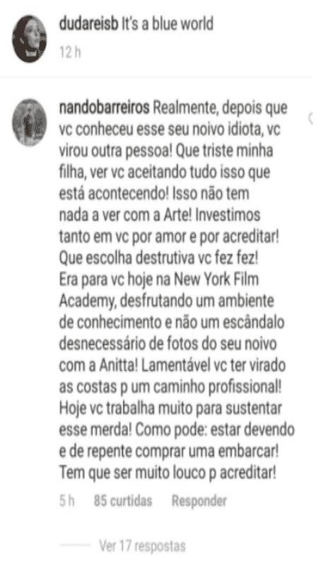Luiz Fernando, pai de Duda Reis - Reprodução / Instagram - Reprodução / Instagram