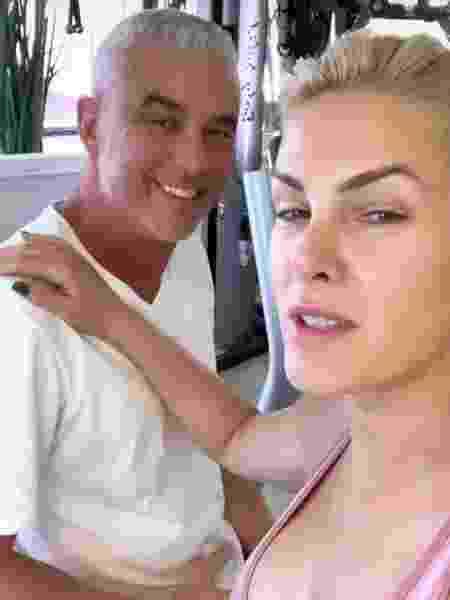 Ana Hickmann e o marido Alexandre Correa na academia - Instagram/Reprodução