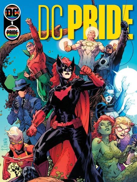 A capa da antologia DC Pride, desenhada por Jim Lee, Scott Williams e Tamra Bonvillain - Reprodução