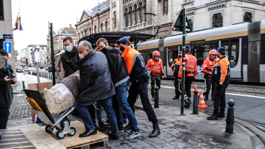 Itália recupera na Bélgica estátua que estava perdida desde 2011 - HANDOUT/AFP