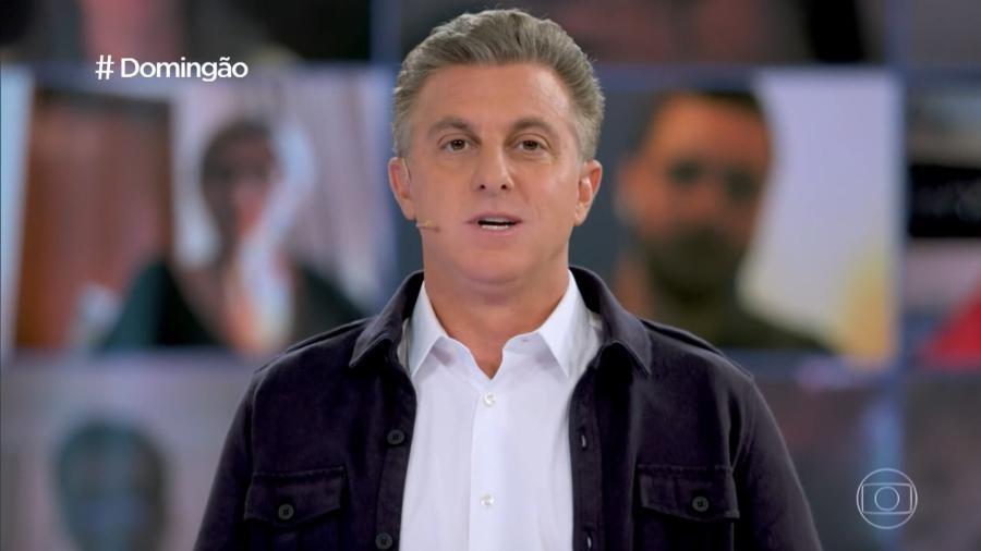 """Luciano Huck em estreia do """"Domingão com Huck"""" - Reprodução/TV Globo"""