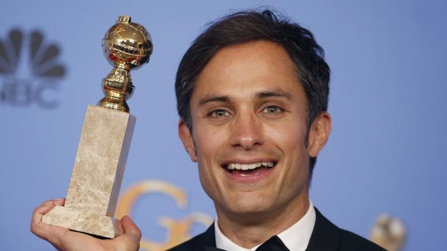 O ator Gael Garcia Bernal no Globo de Ouro de 2016 - REUTERS