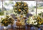 Capricho na decoração da mesa de doces rouba a cena em casamento no campo - Flávia Vitória Fotografia/Divulgação