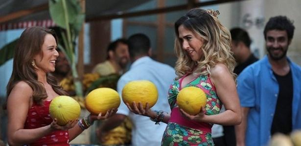 """Tancinha e Fedora fazem as pazes no fim de """"Haja Coração"""" - Reprodução/Haja Coração/Gshow"""