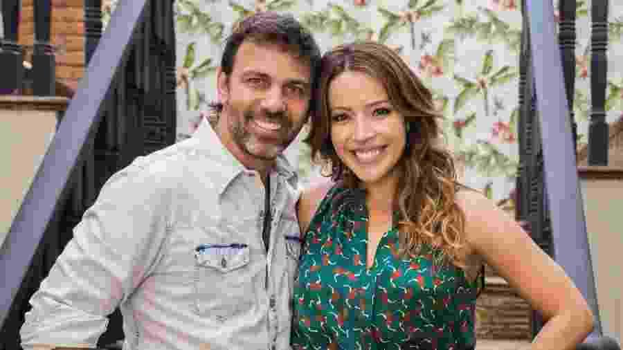 "Felipe (Marcelo Faria) e Sirlene (Renata Dominguez) de ""Sol Nascente"" - Paulo Belote/Divulgação/TV Globo"