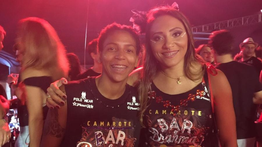A judoca Rafaela Silva e a namorada, Thamara - Luiza Oliveira