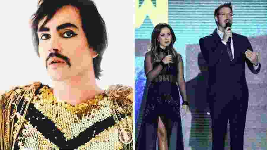 Johnny Hooker criticou a apresentação de Tatá Werneck e Fábio Porchat no Prêmio Multishow - Reprodução/Instagram e Roberto Filho/Brazil News