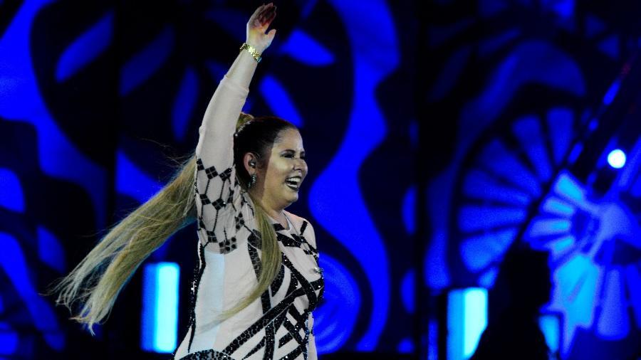 A cantora e compositora Marília Mendonça também agitou o público no festival - Glaucon Fernandes/Eleven/Estadão Conteúdo