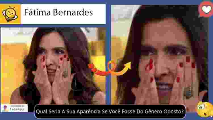 Fátima Bernardes se fosse homem, segundo brincadeira no Facebook - Reprodução - Reprodução