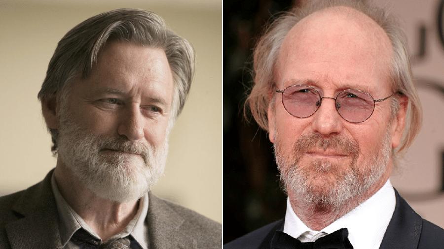 Os atores Bill Puman e William Hurt - Reprodução/Montagem
