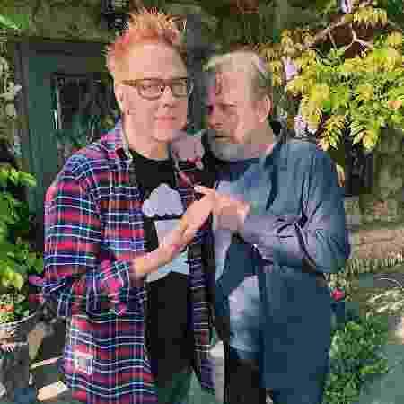 James Gunn e Mark Hamill se encontraram  - Reprodução/Twitter - Reprodução/Twitter