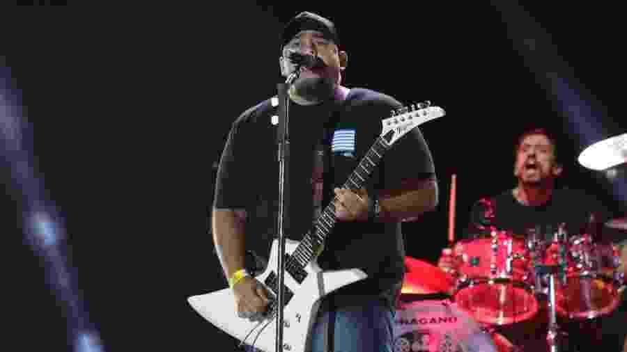 O vocalista e guitarrista Digão, dos Raimundos - Deividi Correa / AgNews