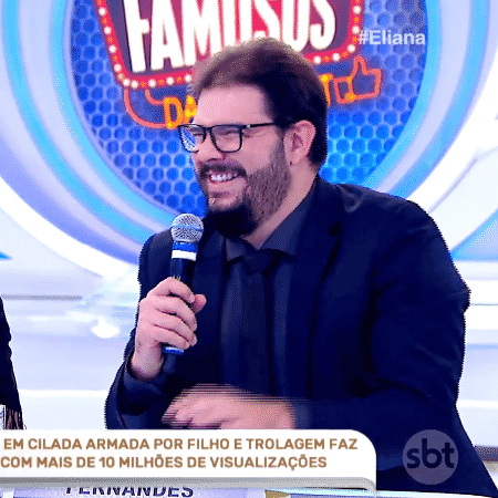 """Humorista Rodrigo Fernandes participou do programa """"Eliana"""" no dia 22 - Reprodução - Reprodução"""