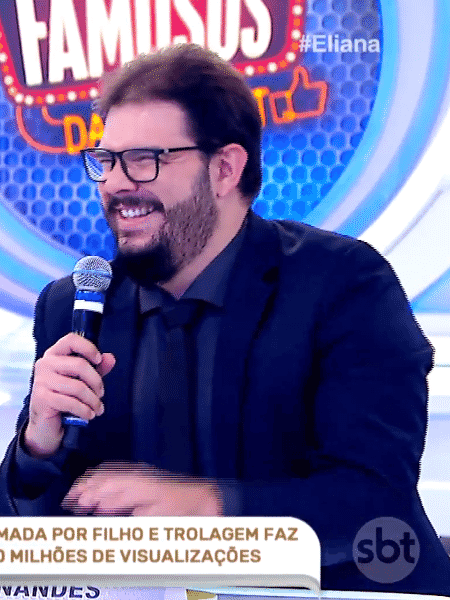 Rodrigo Fernandes, o Jacaré Banguela, apareceu no programa Eliana neste domingo (22) - Reprodução
