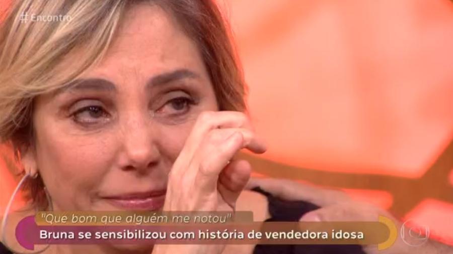 """Heloísa Perissé se emociona no """"Encontro"""" - Reprodução/Globo"""