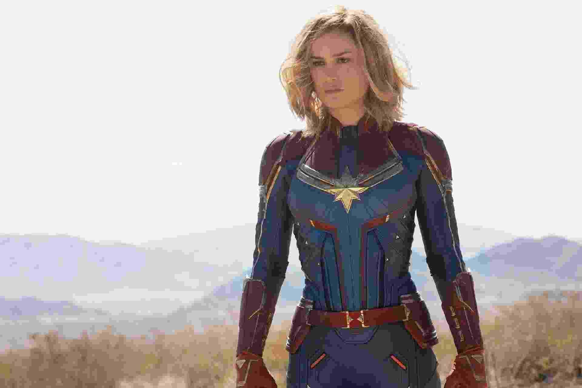 Brie Larson aparece como Capitã Marvel em fotos divulgadas pela revista Entertainment Weekly - Reprodução/Entertainment Weekly