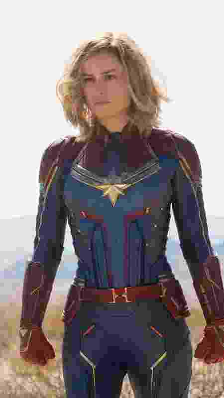 Brie Larson aparece como Capitã Marvel em fotos divulgadas pela revista Entertainment Weekly - Reprodução/Entertainment Weekly - Reprodução/Entertainment Weekly