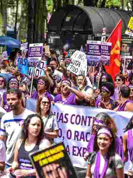 Manifestação feminina #EleNão nas eleições de 2018: mulheres voltam a protestar em 2020 com hashtag nas redes sociais - Lucas Lacaz Ruiz/Estadão conteúdo