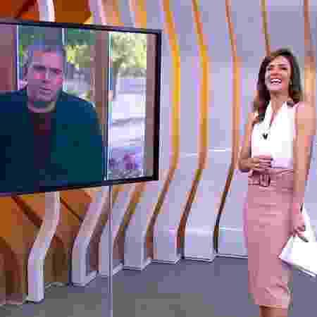 """Rodrigo Alvarez, sem máscara, conta como fez """"pegadinha"""" de Halloween com Monalisa Perrone - Reprodução/TV Globo - Reprodução/TV Globo"""