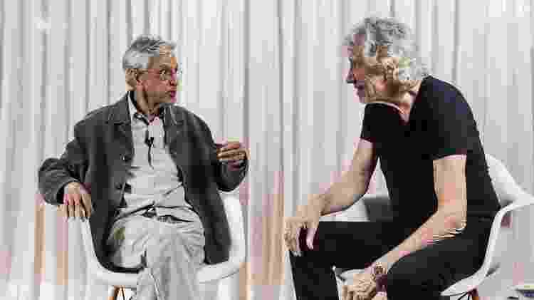 Caetano Veloso entrevista Roger Waters - Divulgação - Divulgação