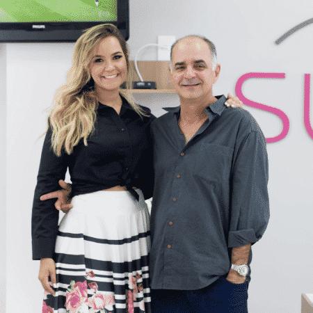 Marina com o pai, Geraldo: ele acreditou no potencial da filha e deixa a administração do negócio a cargo dela  - Arquivo Pessoal