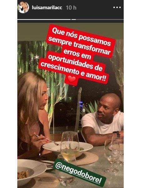 Luisa Marilac e Nego do Borel jantam juntos  - Reprodução/Instagram