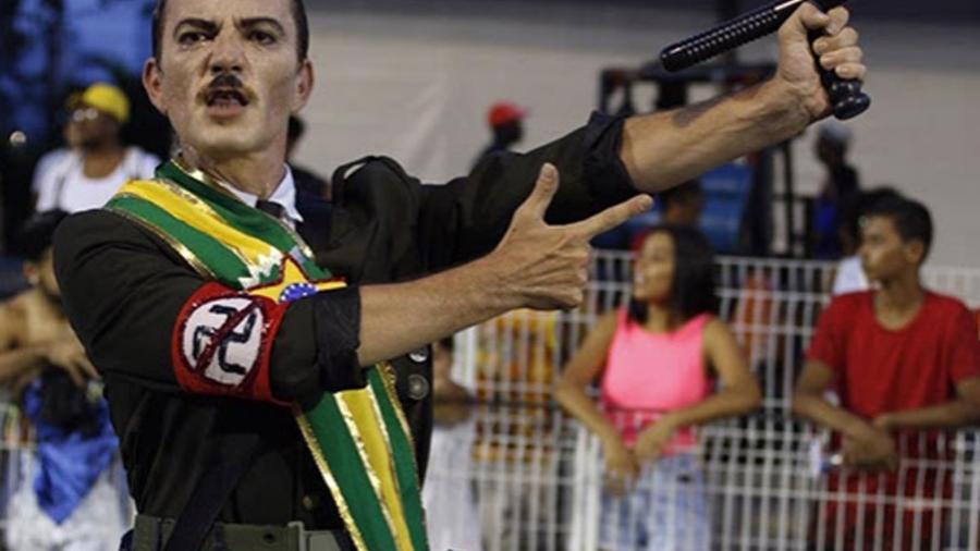 Componente da Águia de Ouro desfilou vestido de Hitler - Ismael Toledo/FISESP