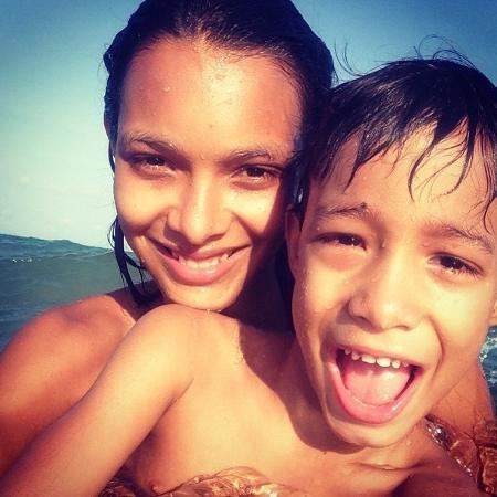 Lais Ribeiro e o filho, Alexandre - Arquivo Pessoal
