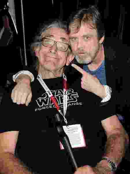 Mark Hammil e Peter Mayhew - Reprodução/Twitter