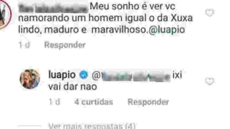 Luana Piovani responde seguidora - Reprodução/Instagram