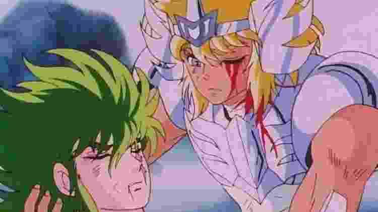 Isaac e Hyoga em Os Cavaleiros do Zodíaco - Reprodução - Reprodução