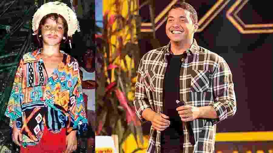 Volta no tempo: Safadão adorava vestir-se nas festas juninas com os looks criados por sua mãe - Arquivo pessoal