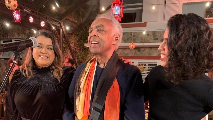 As filhas Preta e Bela participaram da celebração do aniversário de Gil  - Reprodução/Twitter