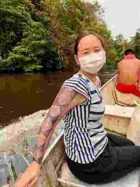 A infectologista Vivian Avelino-Silva em seu trabalho de 10 dias no Amapá - Arquivo pessoal