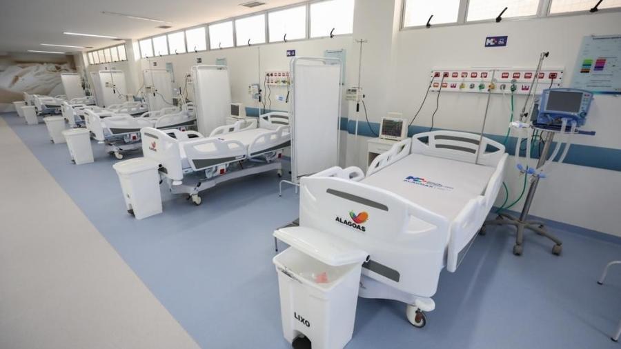 Leitos no Hospital Metropolitano, em Maceió - Márcio Ferreira/Divulgação