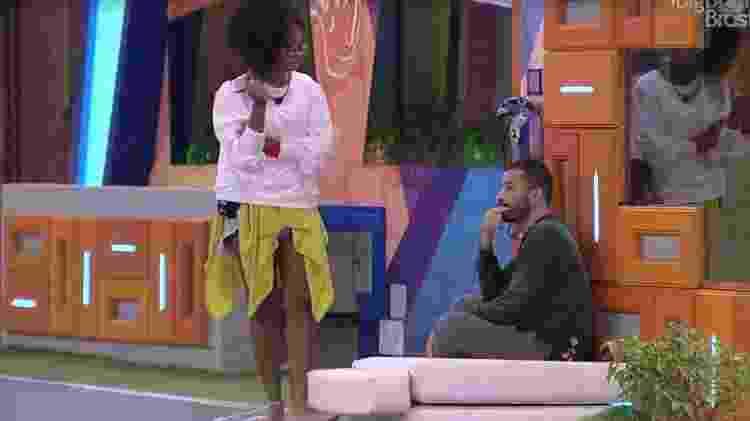 BBB 21: Lumena reclama de desculpas de Carla Diaz - Reprodução/ Globoplay - Reprodução/ Globoplay