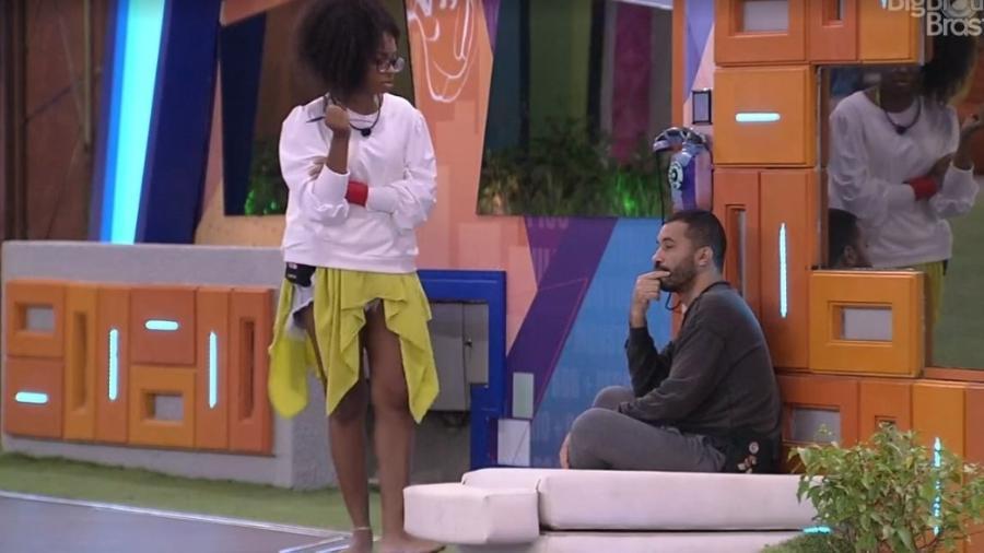 BBB 21: Lumena reclama de desculpas de Carla Diaz - Reprodução/ Globoplay