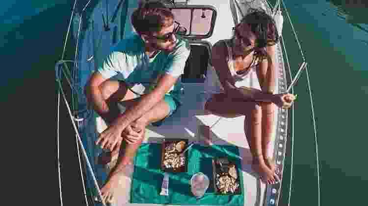 Sem geladeira durante 1 ano e meio, Marina e Michel precisaram readaptar a alimentação - Acervo pessoal - Acervo pessoal