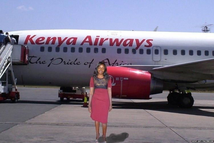 """Com esta foto, a queniana anunciou o começo de sua """"viagem"""""""