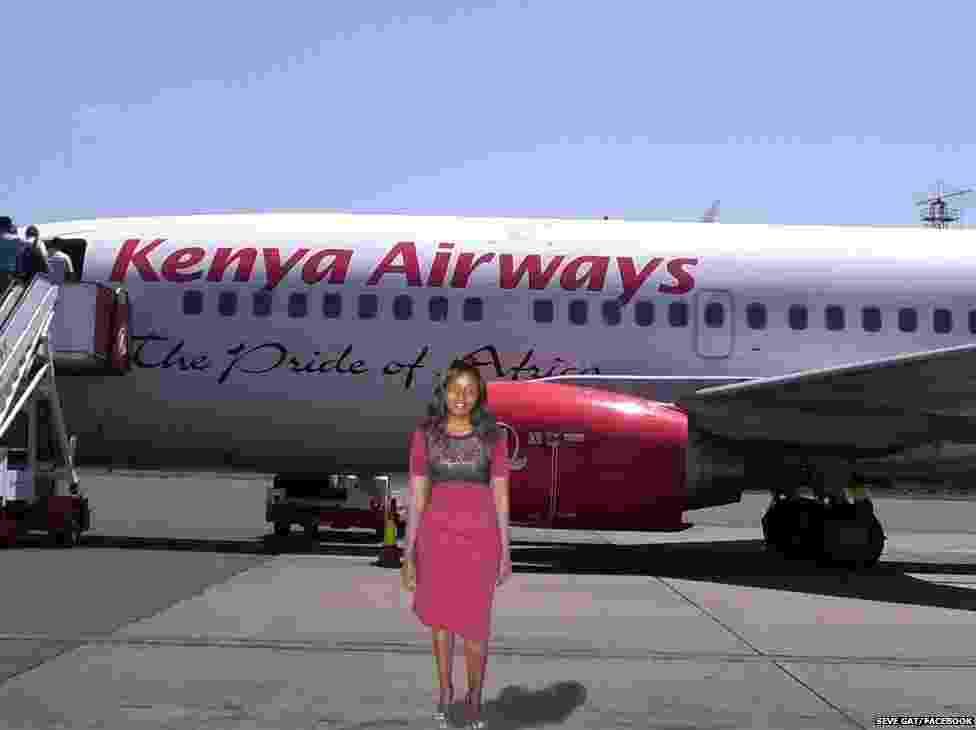 """Com esta foto, a queniana anunciou o começo de sua """"viagem"""" - Reprodução/Seve Gat"""