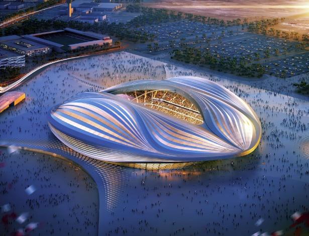 Zaha Hahid assina do projeto do estádio Al-Wakrah (ainda em construção), que deve ser uma das sedes da Copa do Mundo de 2022, no Qatar. A inspiração para a obra é um tradicional barco de pesca local. Um dos mais importantes aspectos da criação é o segundo nível modular, em madeira, que será desmontado depois dos jogos, para reduzir a capacidade do estádio