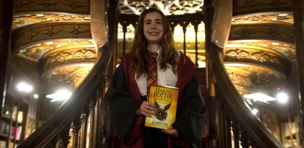 Livraria na cidade do Porto, em Portugal, recebe os fãs de Harry Potter no lançamento do novo livro - Miguel Riopa/AFP