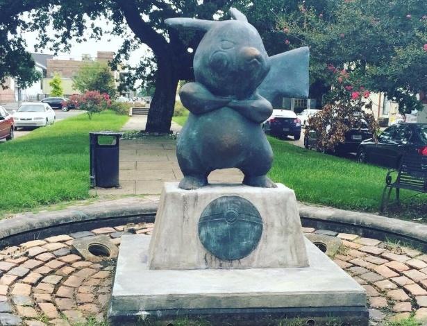 Identidade do autor de estátua ainda é desconhecida - Reprodução