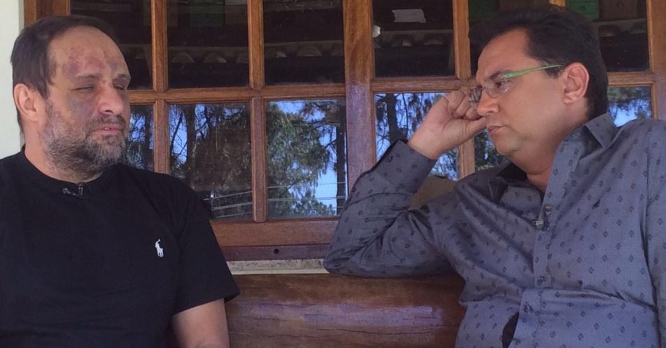 A Geraldo Luís, o ex-polegar Ricardo Costa fala da agressão que sofreu do cunhado