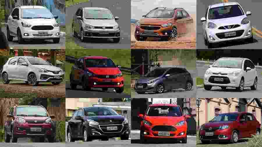 Colocamos o Argo no meio do fogo cruzado: 11 modelos olham de cara feia para o novo concorrente - Arte UOL Carros