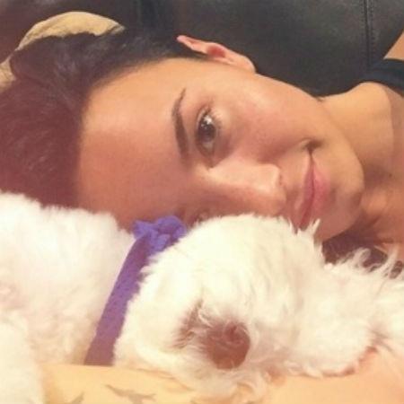 Demi Lovato com Buddy, seu cachorro de estimação morto em julho de 2015 - Reprodução/Instagram