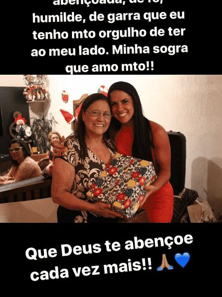Graciele Lacerda posta mensagem carinhosa para Dona Helena - Reprodução/Instagram - Reprodução/Instagram