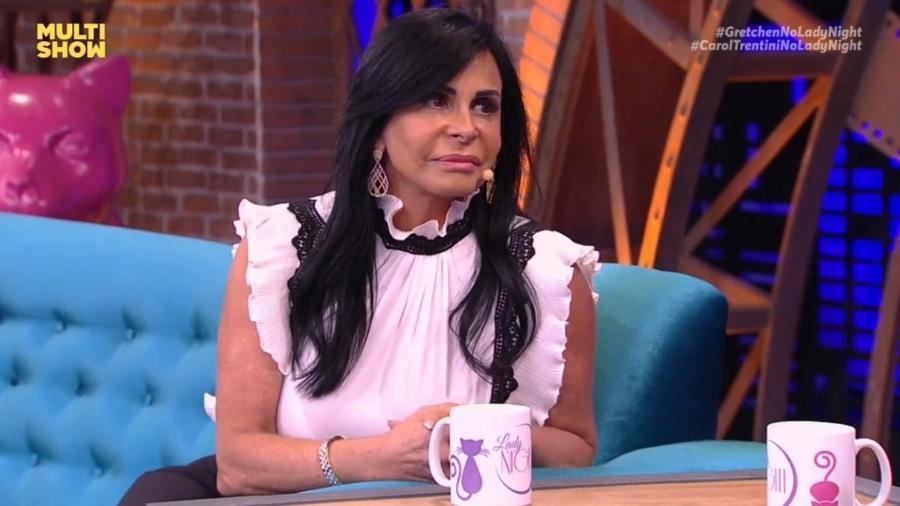 """Gretchen fala sobre sua intimidade no """"Lady Night"""" e é só elogios ao marido português: """"É muito bom, melhor que brasileiro"""" - Reprodução/MultiShow"""